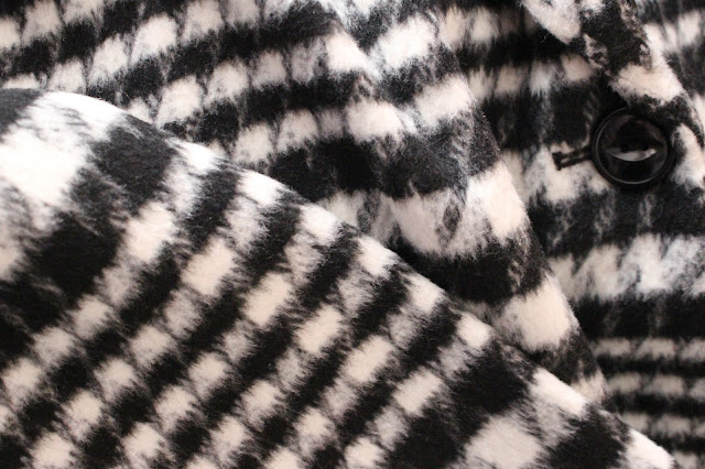 Matalan coat monochrome dogtooth