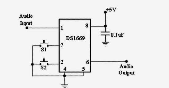 circuit diagram digital volume control using ds1669 ic