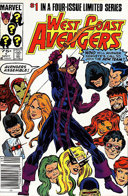 West Coast Avengers comic book cover