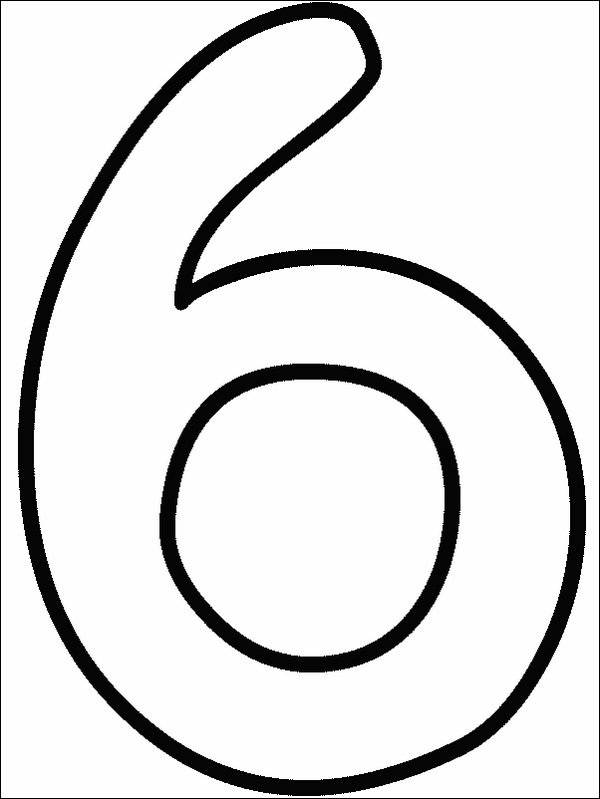 Coloring pages numbers for Number 5 coloring page