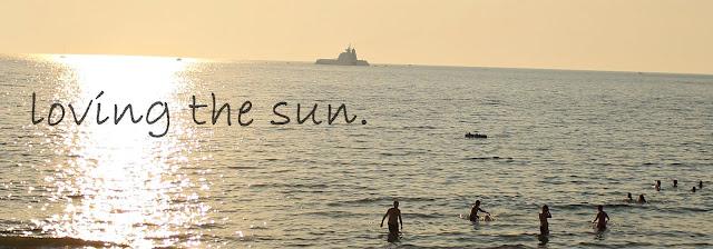 loving the sun.