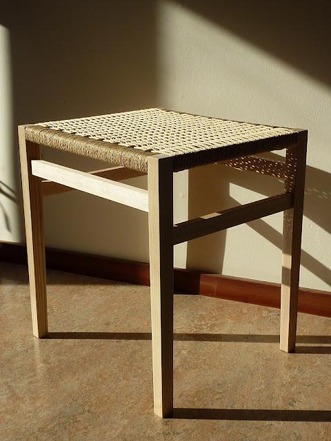 Darrick Rasmussen stools with Danish cord.