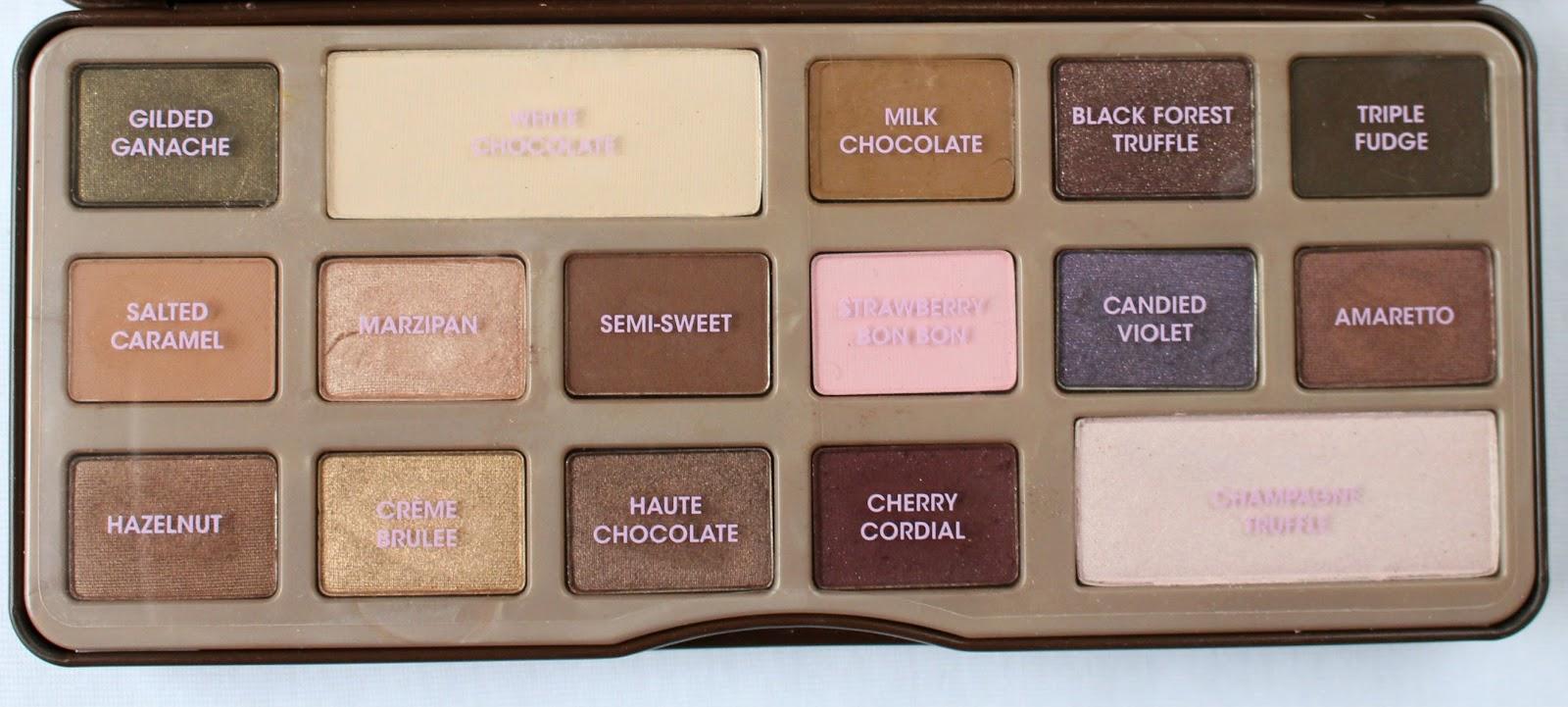 Too Faced Semi Sweet Chocolate Bar & Original Chocolate Bar Revew ...