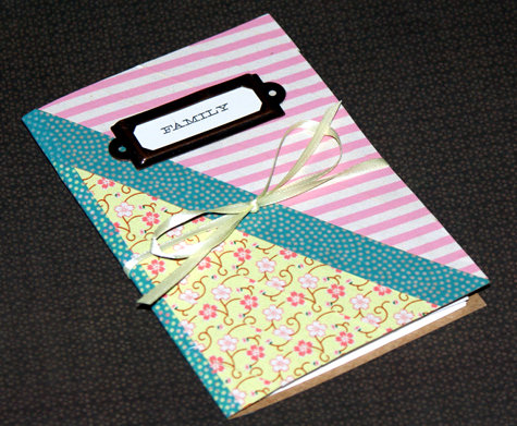 DIY Washi Tape Family Photo Album Craft Project