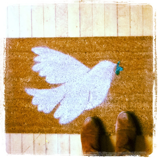 Peace Dove Mat