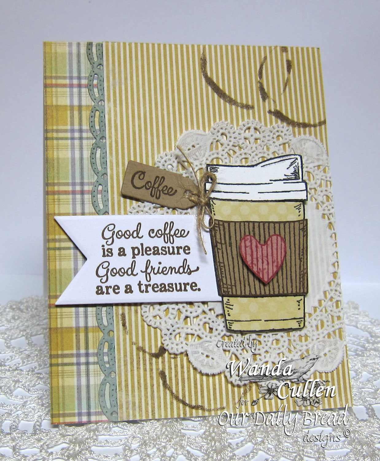 Stamps - North Coast Creations Warm My Heart, Our Daily Bread Designs Custom Beautiful Borders Dies