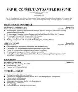 resume sles sap hr consultant resume