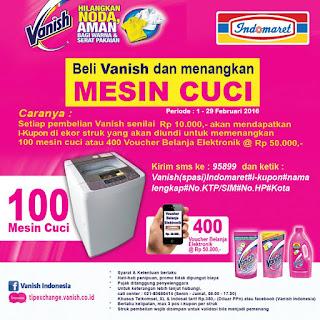 Info Promo - Promo Undian Vanish Berhadiah 100 Mesin Cuci dan 400 voucher Belanja