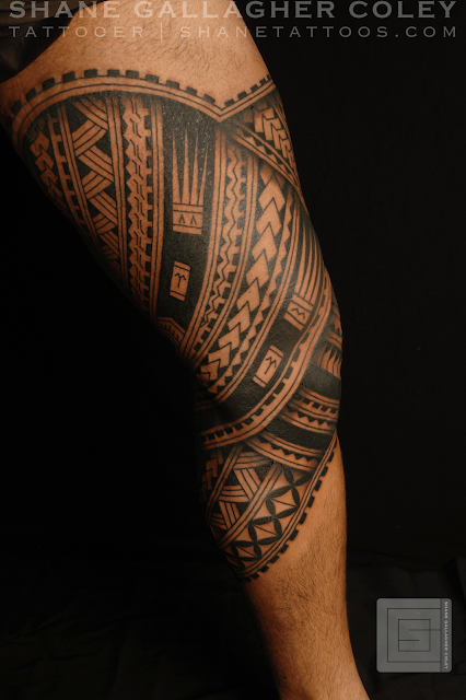 Shane tattoos polynesian leg tatau tattoo for Polynesian thigh tattoo
