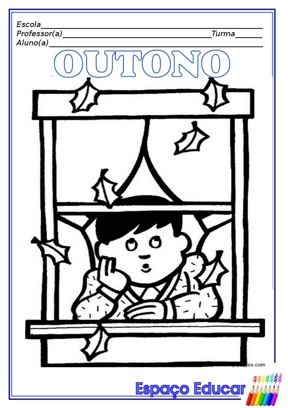 outono Colorir Desenhos - imagens para colorir sobre o outono