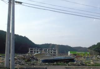 写真:南三陸町のやや内陸寄りの光景