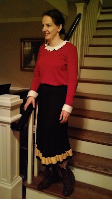 The foxes three halloween in almost december and heres the queen of homemade costumes herself check out jennys sweet olive oyl costume she also made the vest of a certain han solo solutioingenieria Choice Image