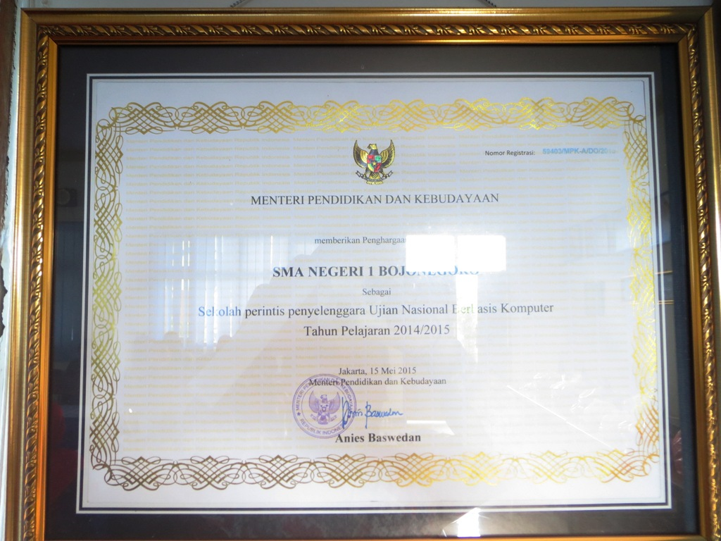 Sekolah Perintis Penyelenggara UNBK Tahun Pelajaran 2014/2015