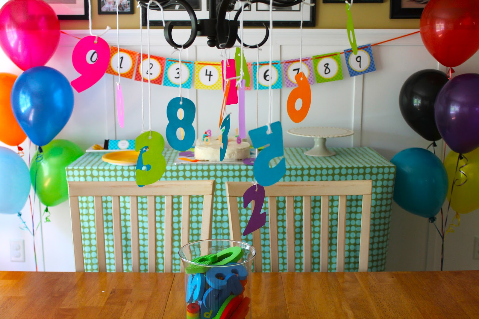 Number Themed Birthday Party - welcometothemousehouse.com