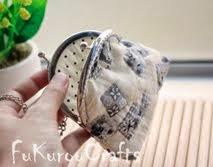 White Coin purse bag: กระเป๋า ใส่ตังค์ เหรียญ งานผ้า สีขาว