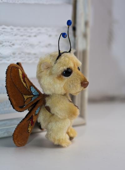 миниатюрный мишка бабочка_автор Екатерина Пинчук