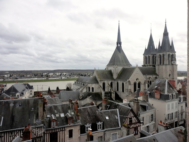 View of Blois from the château, in the Loire Valley of France