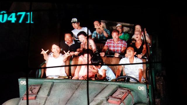 On the Indiana Jones ride at Tokyo Disney Sea