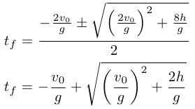 Solucion ecuacion cuadratica