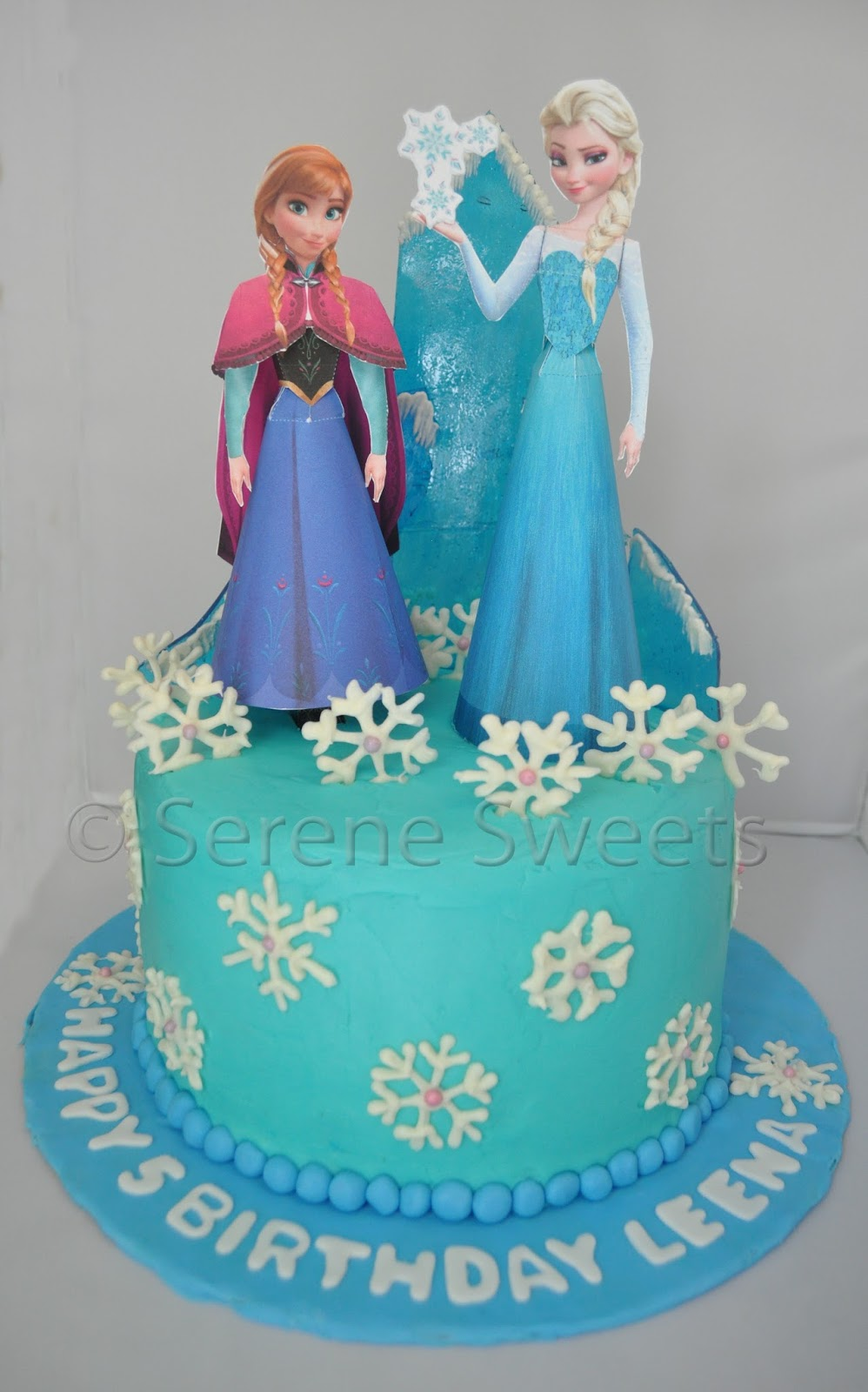 Serene Sweets Frozen Birthday Cake