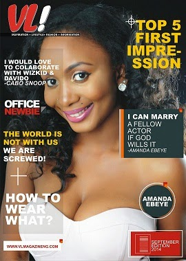 Star Actress Amanda Ebeye Covers The September 2014 Edition Of VL! Magazine Nigeria