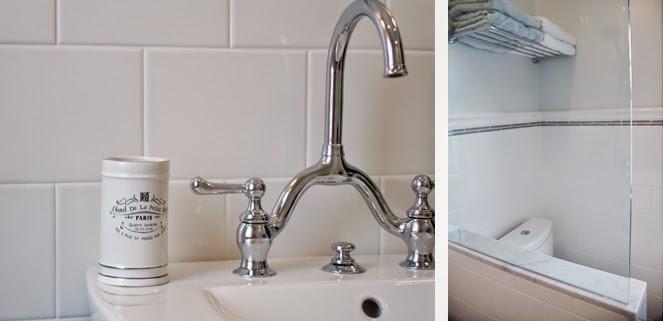 Rambling Renovators | new traditional bathroom black white subway tile