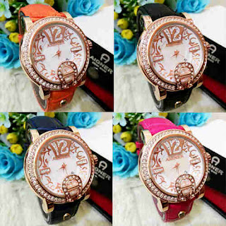 Harga Jam Replika Aigner Batik Permata Leather