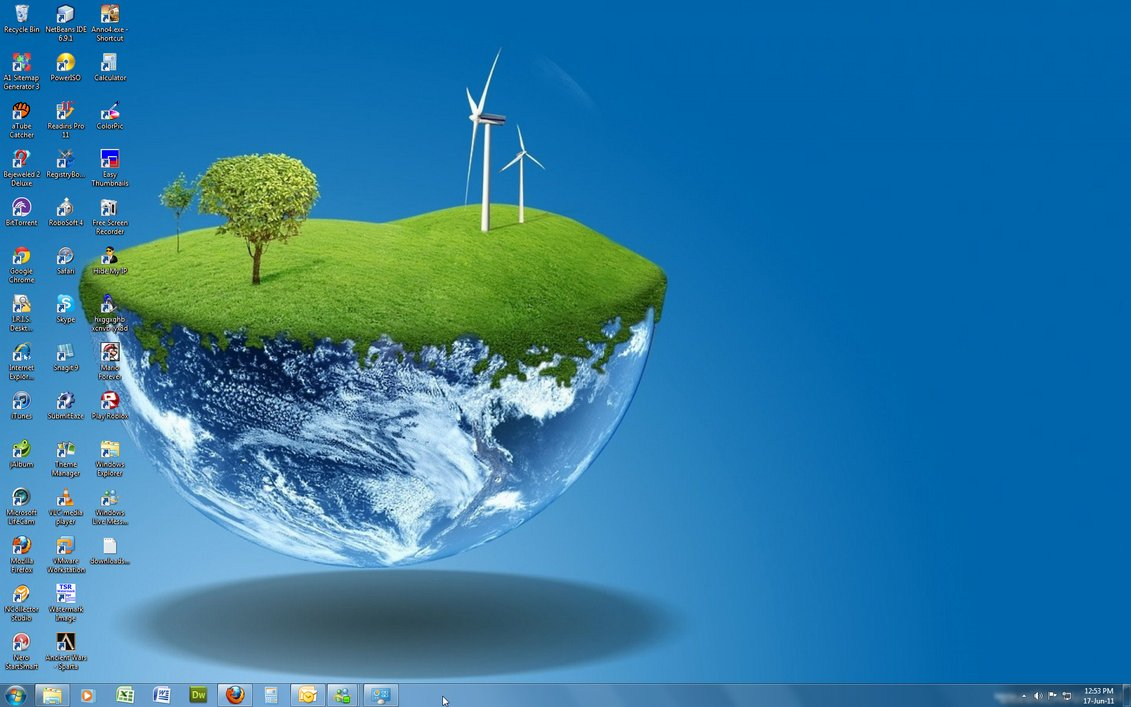 Windows 7 Theme - 3D World ~ Windows 7 Gallery | Themes ...