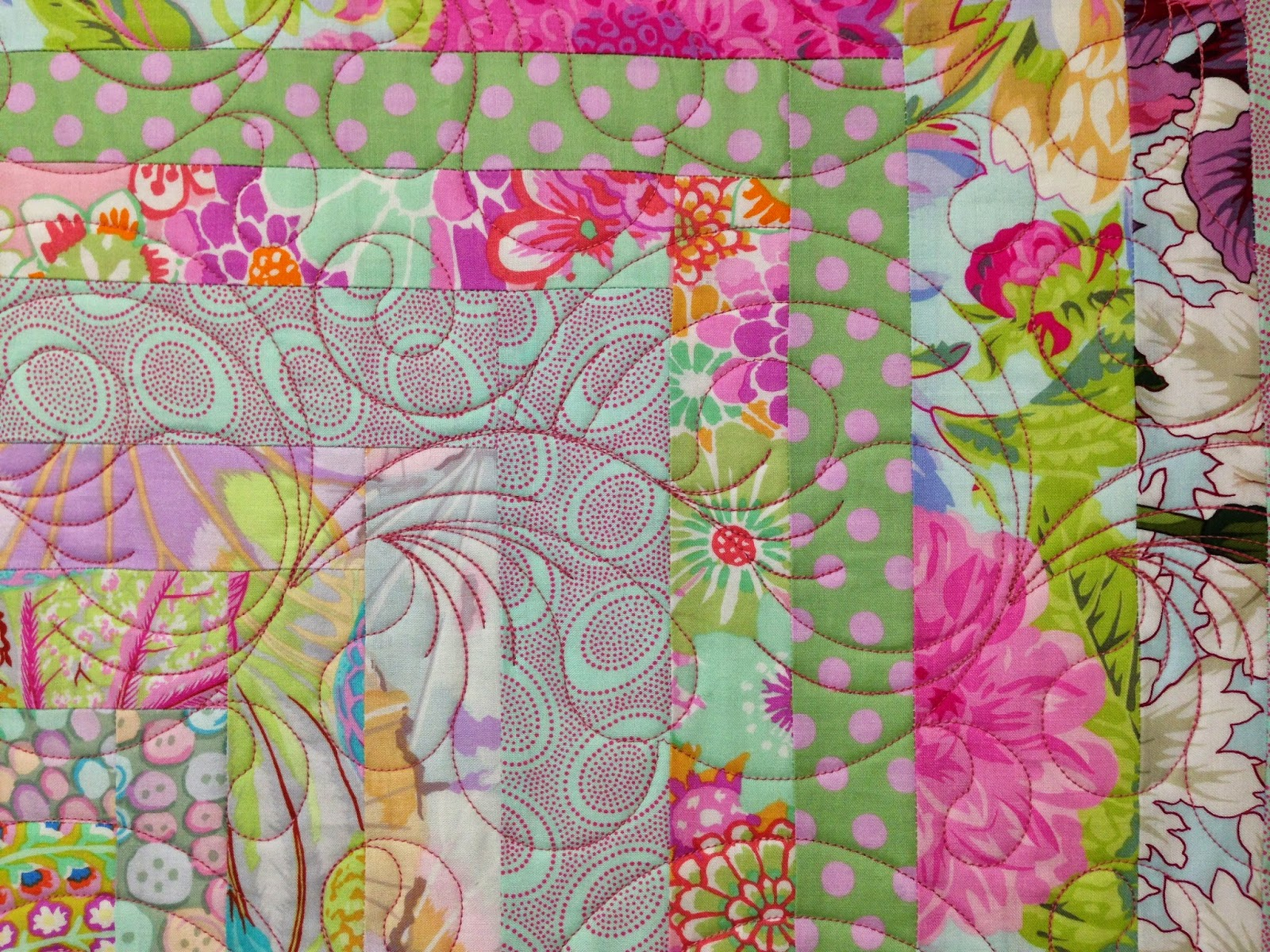 Jean Tucker Pinks and Purples Quilt