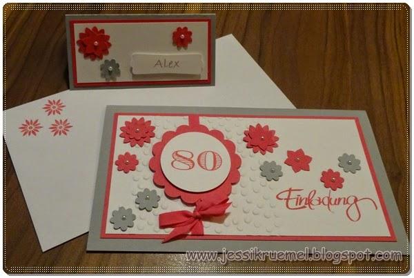 Einladung, Stampin' Up!, BoHo Blüten, Modernes Etikett, Geburtstag, Tischkarte