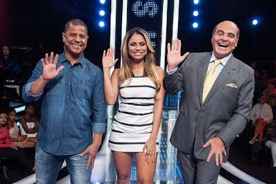 Marcelinho Carioca, Lexa e Marcelo de Carvalho - Crédito: Fernanda Simão / Divulgação RedeTV!