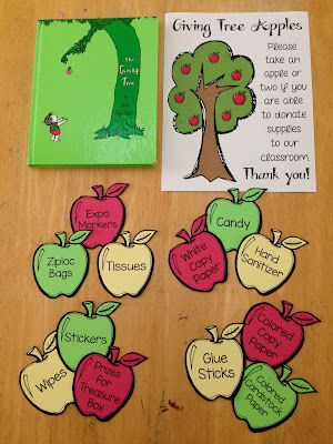 Giving Tree apples for parent donations