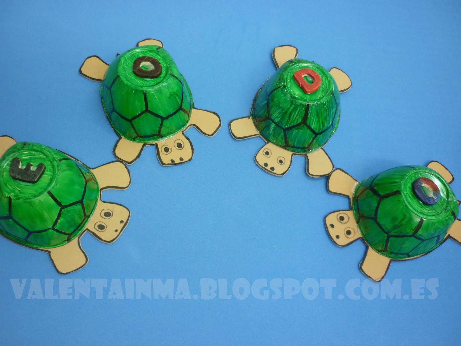 Manualidades de tortugas manualidades tortuga con goma - Manualidades de goma eva ...