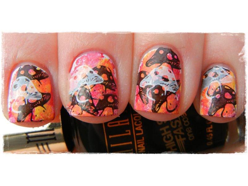 nail and art Tutorial Decoração de unhas com Esponja e Carimbo