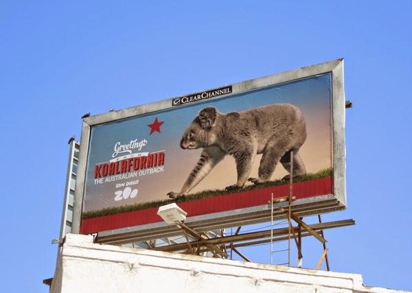 Koalafornia Australian Outback San Diego Zoo billboard