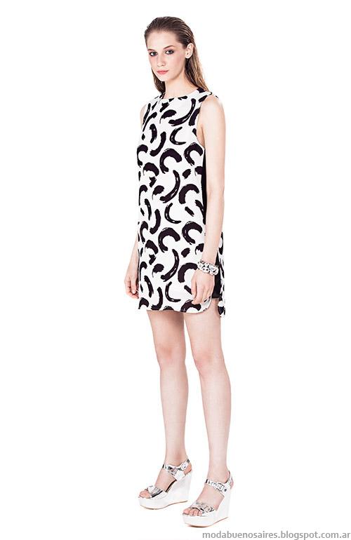 Moda primavera verano 2015 vestidos cortos.