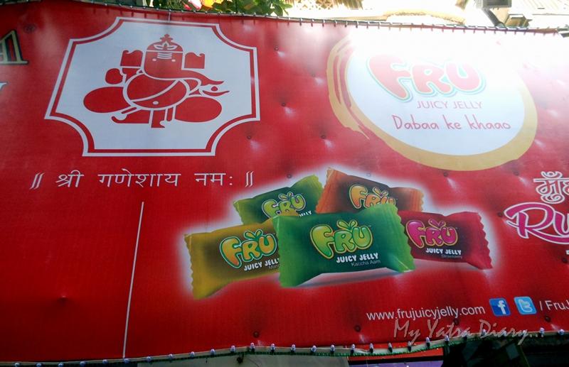 Ganeshji Ads on the way to Lalbaugcha raja, Ganesh Pandal Hopping, Mumbai