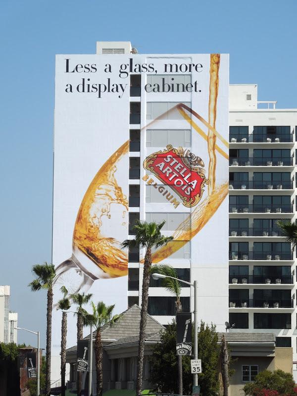 Giant Stella Artois Mondrian Hotel billboard