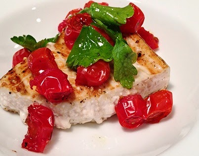 Recipe: Halibut Fillet with Cherry Tomatoes