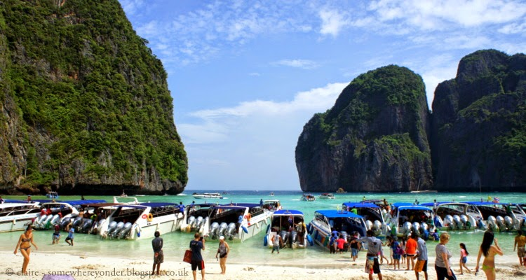 The real Maya Bay Thailand, aka The Beach