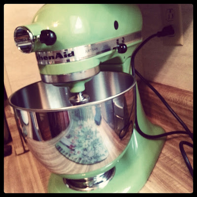 refurbished apple green kitchenaid stand mixer