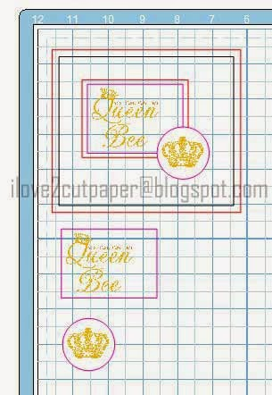 Queen Bee card layout using Pazzles software