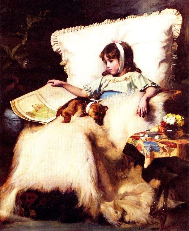 pintura de cachorro e criança