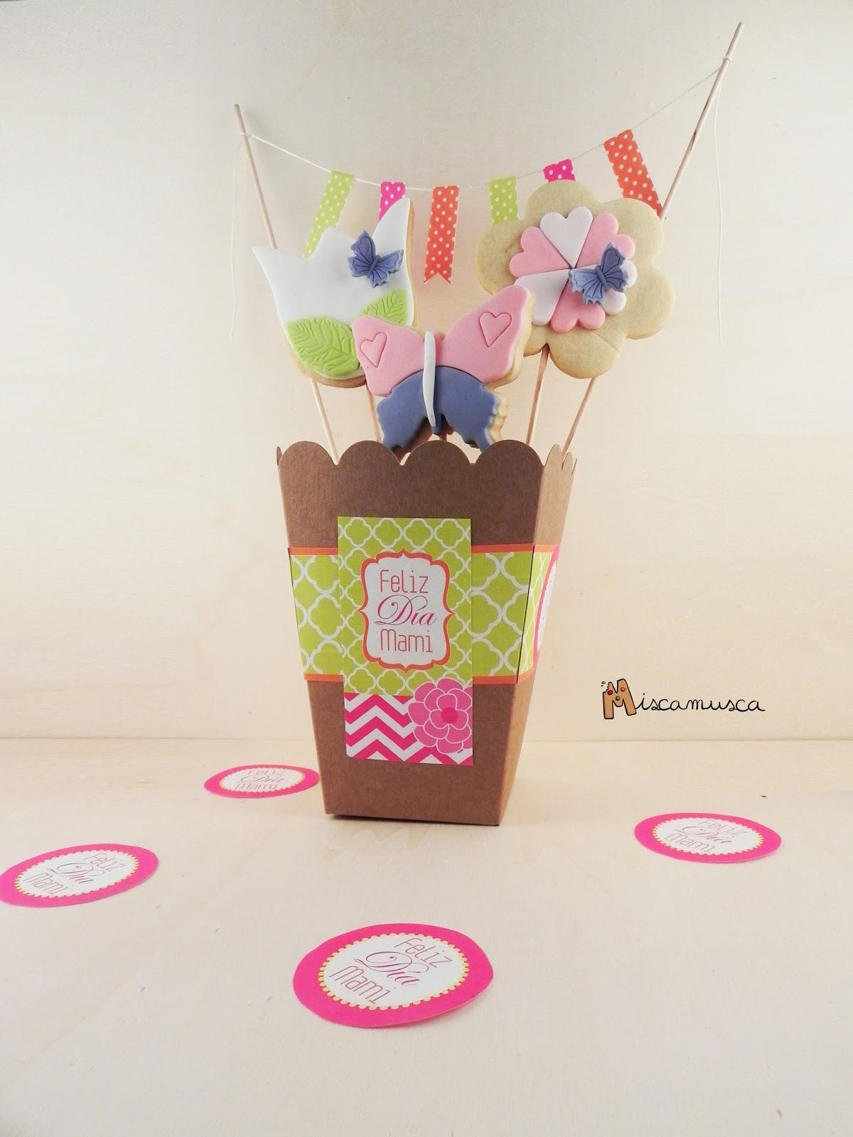 Bouquet de flores de galleta para mamá