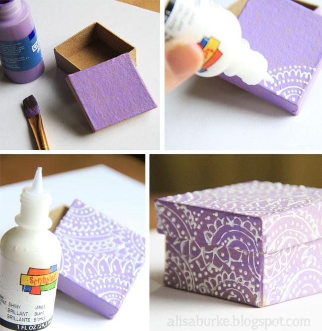 Как интересно украсить коробку для подарка 32