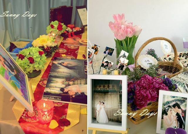 decor with flowers wedding photos