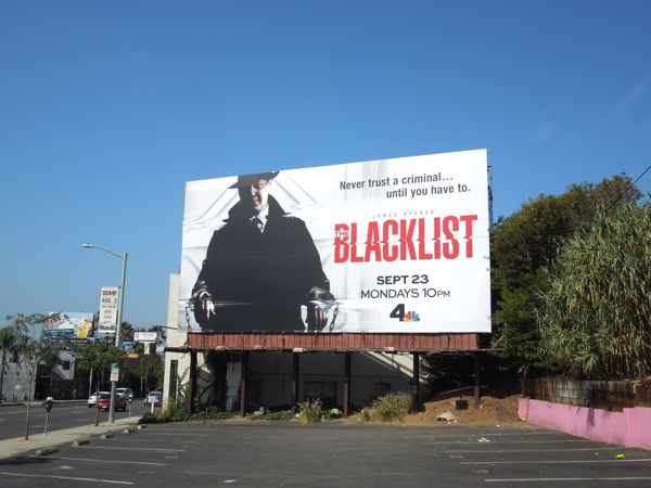 Blacklist series premiere billboard