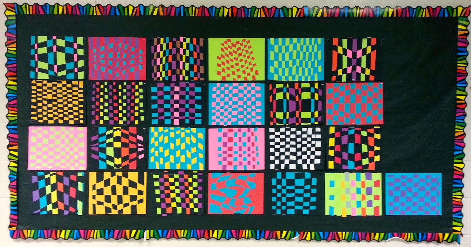 Op Art Paper Weaving Display Art With Mrs Nguyen