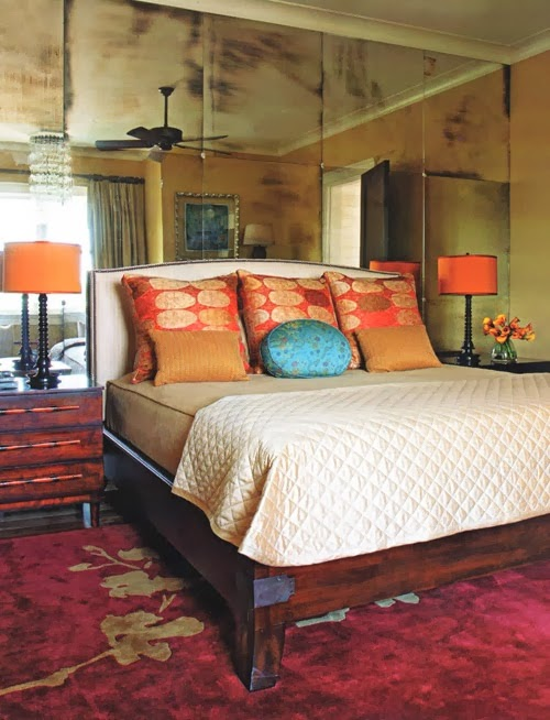 Fresh This is an optical illusion that is also created in this bedroom The fully mirrored walls