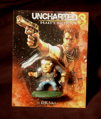 Uncharted 3, Mini-Figure by Mike Fleming jr., Package Design © 2012 Jeff Lafferty